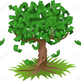 2909547-Conceptual-vector-illustration-Money-growing-on-a-tree-representing-perhaps-green-environmental-inve-Stock-Vector